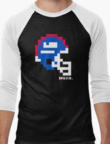 Tecmo Bowl - New York Giants - 8-bit - Mini Helmet shirt Men's Baseball ¾ T-Shirt