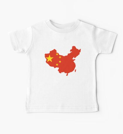 China Flag and Map Baby Tee