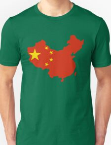 China Flag and Map T-Shirt