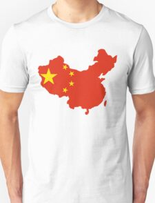 China Flag and Map Unisex T-Shirt
