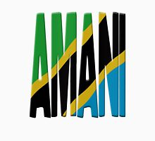 Amani - Tanzania flag Womens Fitted T-Shirt