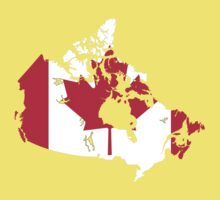 Canada Flag and Map Kids Clothes