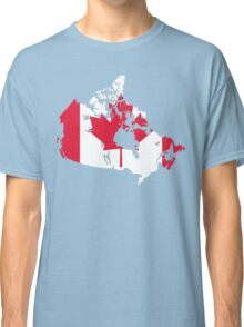 Canada Flag and Map Classic T-Shirt