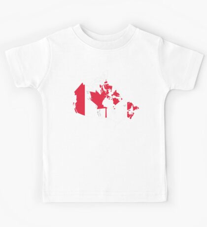 Canada Flag and Map Kids Tee