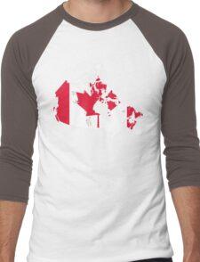 Canada Flag and Map Men's Baseball ¾ T-Shirt
