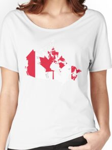 Canada Flag and Map Women's Relaxed Fit T-Shirt