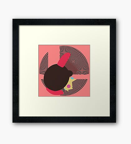 Peach (Kirby Hat) - Sunset Shores Framed Print