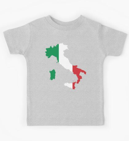 Italy Flag and Map Kids Tee
