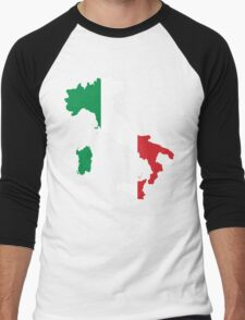 Italy Flag and Map Men's Baseball ¾ T-Shirt