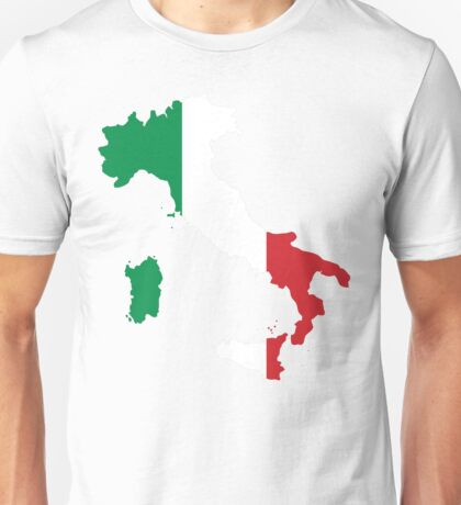 Italy Flag and Map Unisex T-Shirt