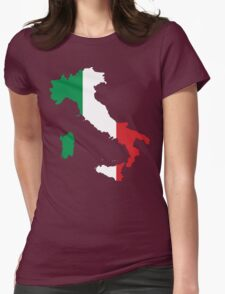 Italy Flag and Map Womens Fitted T-Shirt
