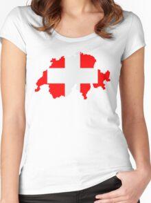 Switzerland Women's Fitted Scoop T-Shirt