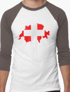 Switzerland Men's Baseball ¾ T-Shirt