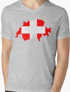 Switzerland Mens V-Neck T-Shirt