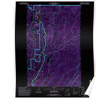 USGS Topo Map Washington State WA Boundary Dam 240170 1992 24000 Inverted Poster