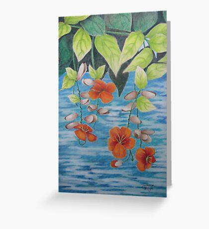 Tropical Fantasy: Dancing Water Greeting Card