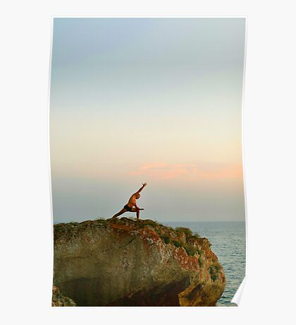 Meditation, Yoga 7 by the beach, Mallorca Poster