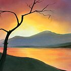 Sunset Lake by Linda Woodward
