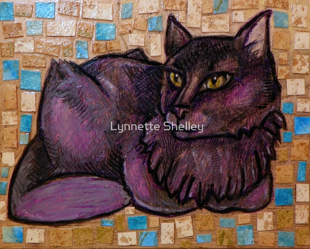 Muse (Portrait of a Cat) by Lynnette Shelley