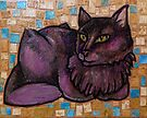 Muse (Portrait of a Cat) by Lynnette Shelley