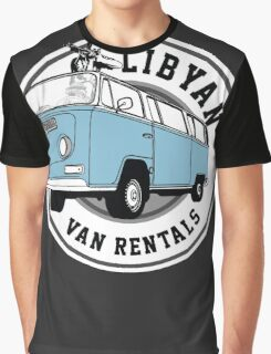 Back to the Future 'Libyan Van Rentals' Logo Graphic T-Shirt