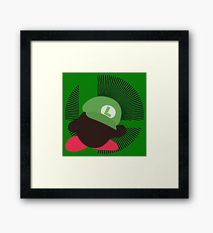 Luigi (Kirby Hat) - Sunset Shores Framed Print