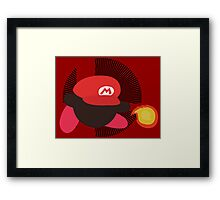 Mario (Kirby Hat) - Sunset Shores Framed Print