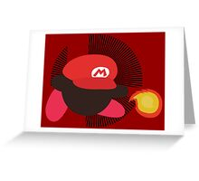 Mario (Kirby Hat) - Sunset Shores Greeting Card