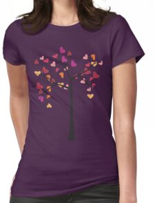Tree love Womens Fitted T-Shirt