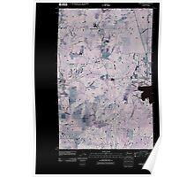 USGS Topo Map Washington State WA Springdale 20110429 TM Inverted Poster