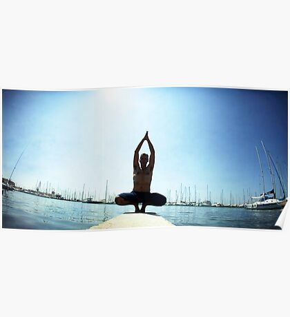 Yoga 7 by the beach, Hur in Mallorca Poster