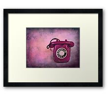 Hollywood is calling Framed Print