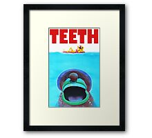 Teeth Parody Framed Print