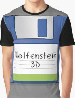 Wolfenstein 3D Retro MS-DOS/Commodore Amiga games Graphic T-Shirt