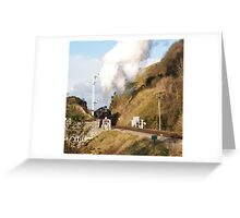 Approaching Corfe Castle Greeting Card
