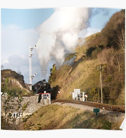 Approaching Corfe Castle Poster