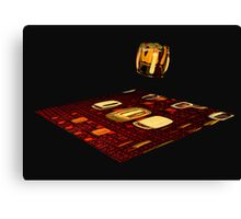 Cube landing Canvas Print