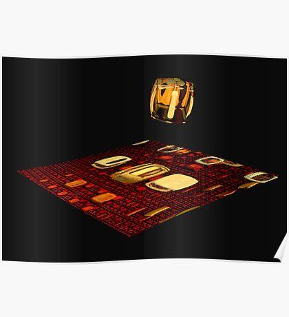 Cube landing Poster