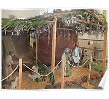 Nativity Scene - Nacimiento en Sta. Maria de Guadalupe Poster