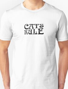 Cats Rule Typography T-Shirt