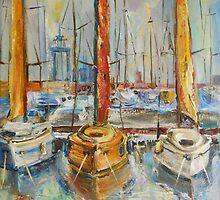 Castellon, Boats at Noon by Stefano Popovski