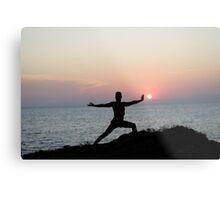 Yoga 7 by the beach, Mallorca Metal Print