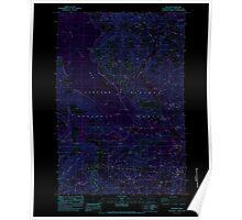 USGS Topo Map Washington State WA Willard 244715 1983 24000 Inverted Poster