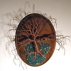 OAK ON OVAL BASE - Wall Art Sculpture, by Sal Villano.  by Sal Villano