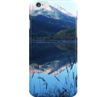 Crystal Lake under mountain tops iPhone Case/Skin