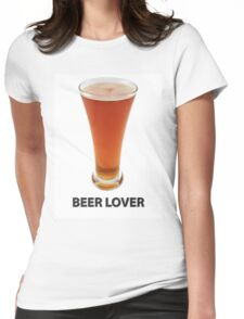 Beer Lover Womens Fitted T-Shirt