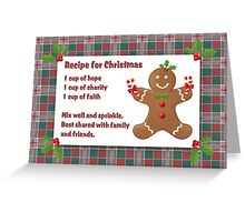 recipe for christmas Greeting Card