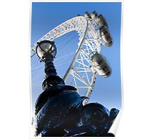 London Eye With serpent Lamp Poster
