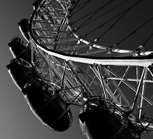 London Eye Black And White by DavidHornchurch
