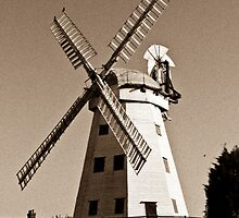 Upminster Windmill Essex England Sepia Toned by DavidHornchurch